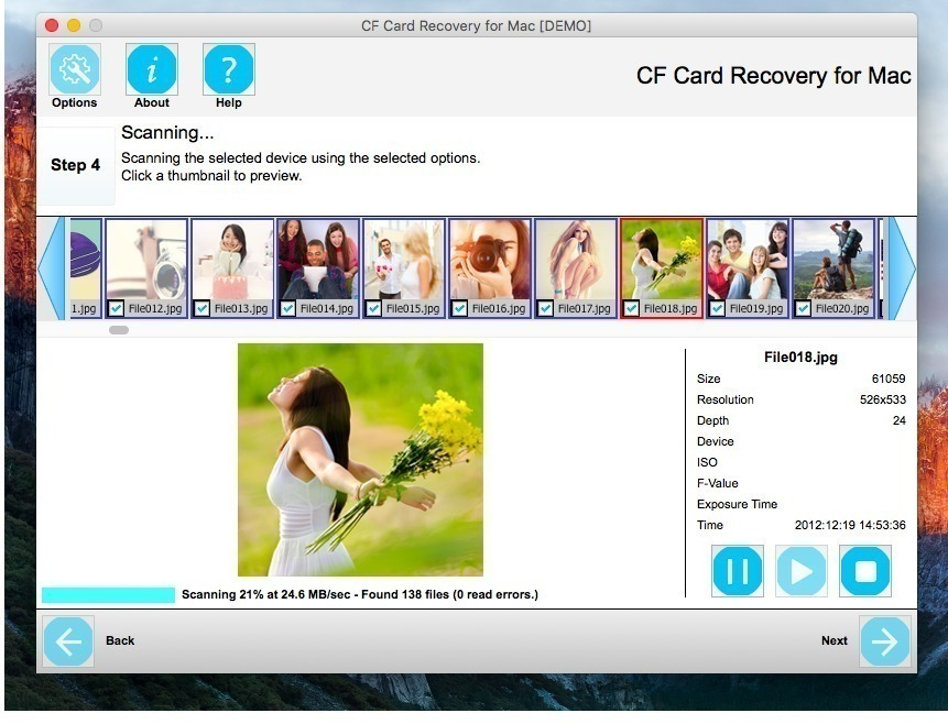 Screenshot 1 for CF Card Recovery