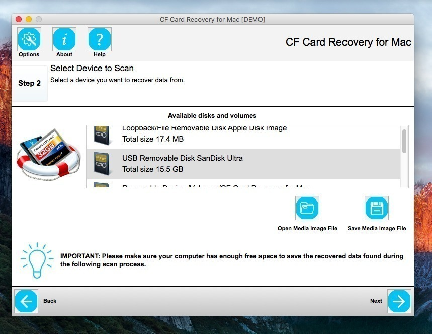 Screenshot 2 for CF Card Recovery
