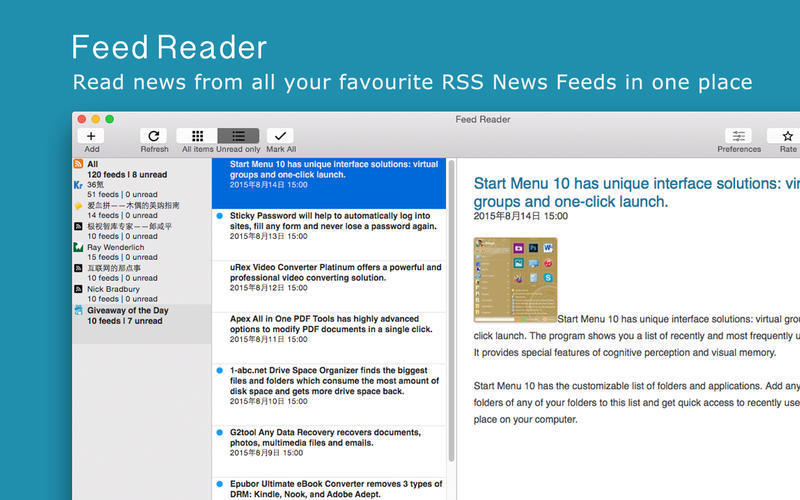 Screenshot 1 for Feed Reader
