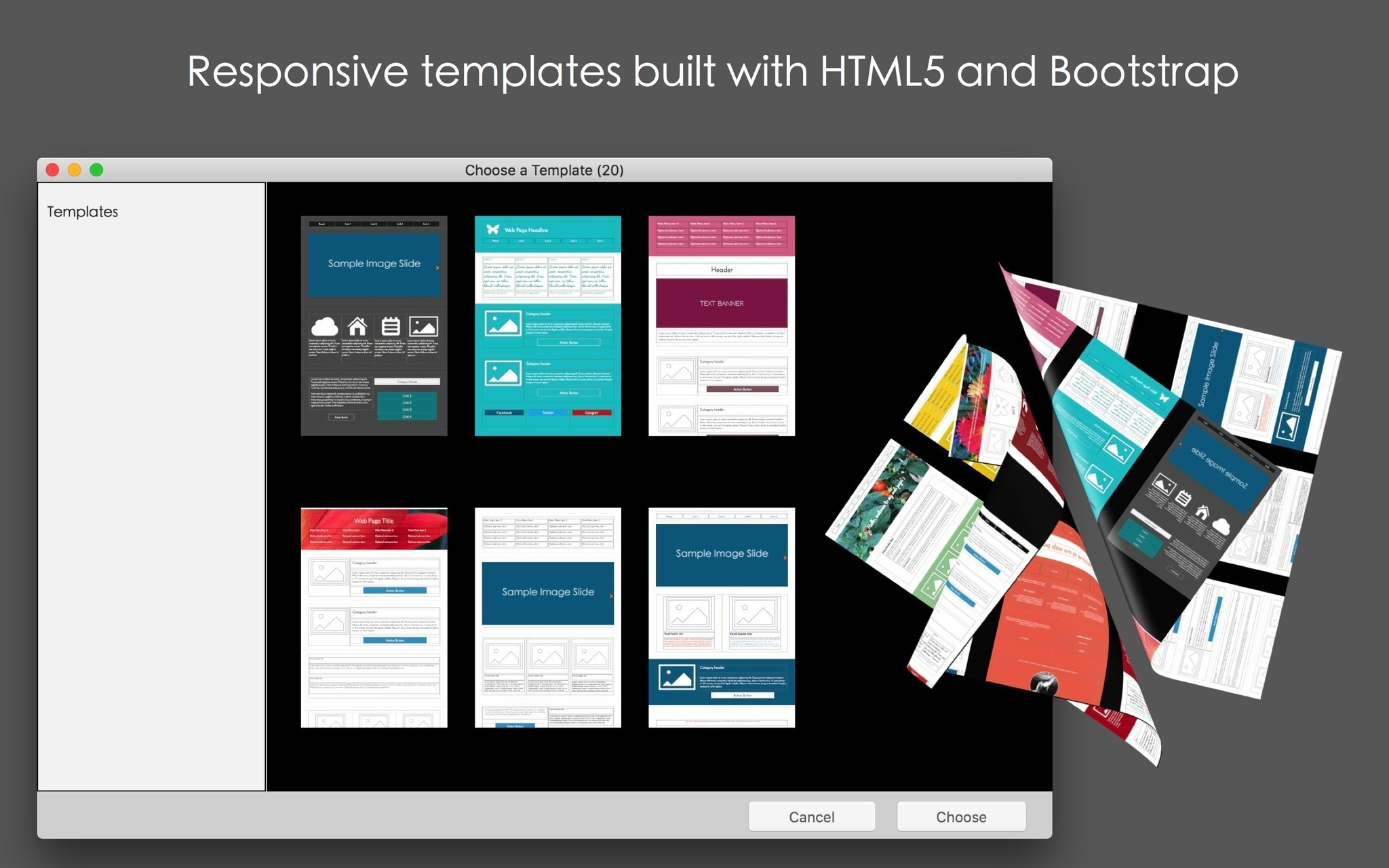 Screenshot 1 for Mobile Web Page Templates
