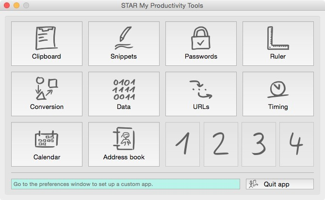 Screenshot 1 for STAR My Productivity Tools