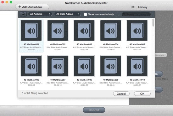Screenshot 1 for NoteBurner Audiobook Converter