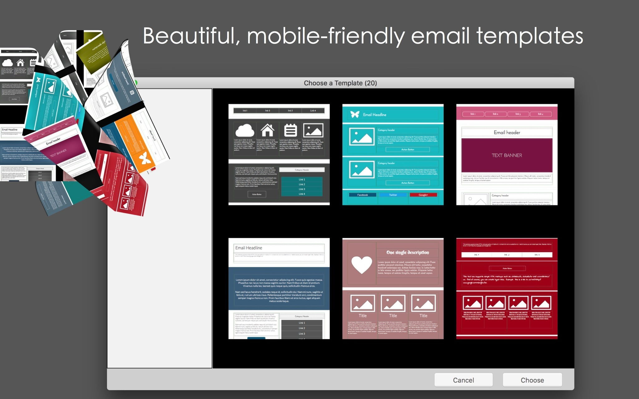 Screenshot 1 for Mobile Email Templates