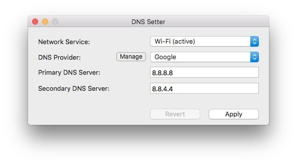 Screenshot 1 for DNS Setter