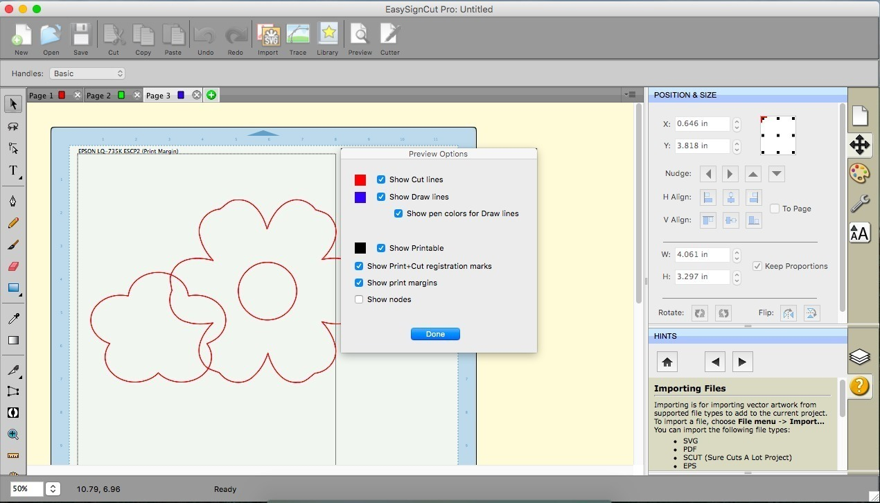 Screenshot 1 for EasySignCut Pro