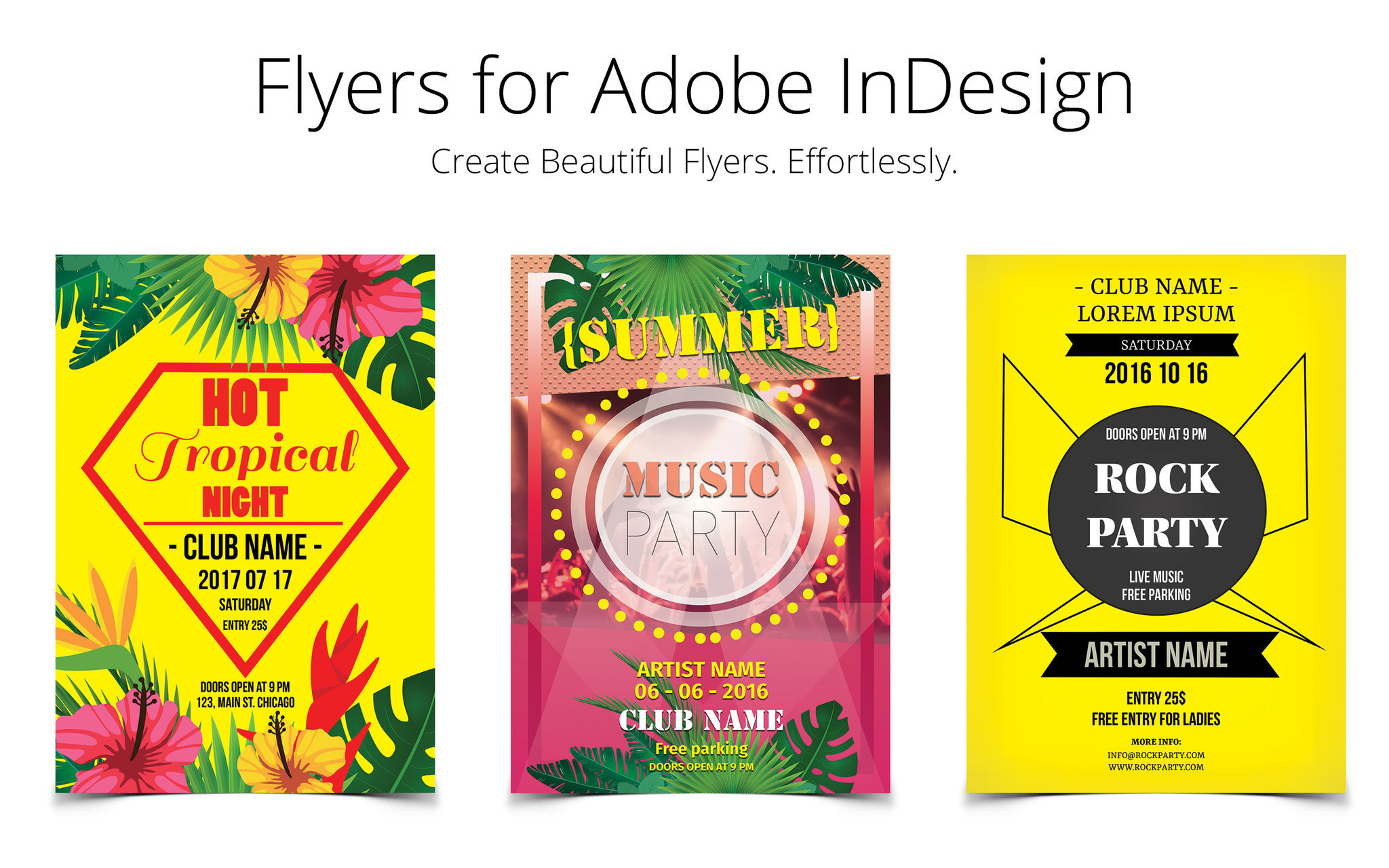 Screenshot 1 for Flyer Templates for InDesign