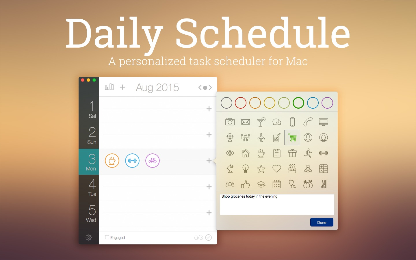 Screenshot 1 for Daily Schedule