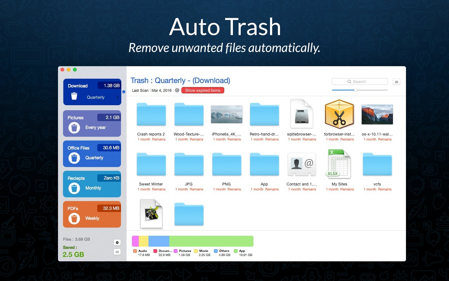 Screenshot 1 for AutoTrash