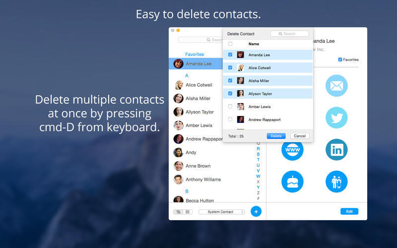 Screenshot 4 for Contact Book Pro