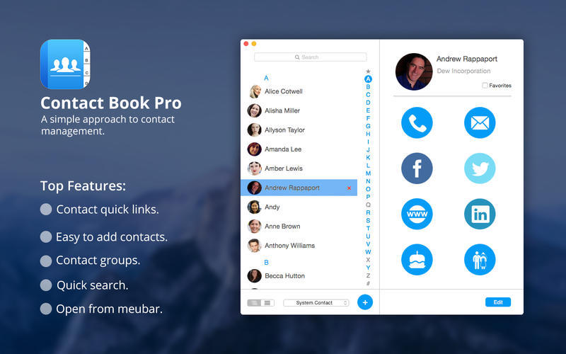 Screenshot 5 for Contact Book Pro