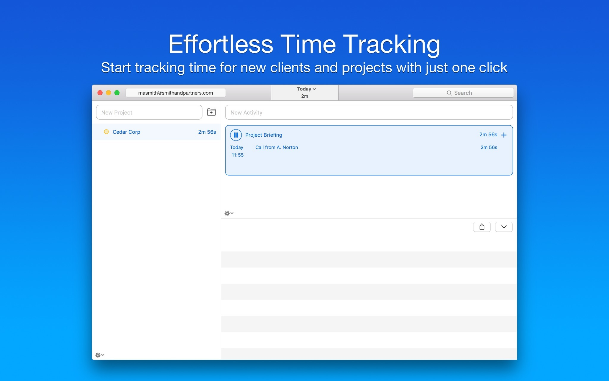 Screenshot 1 for Caato Time Tracker+