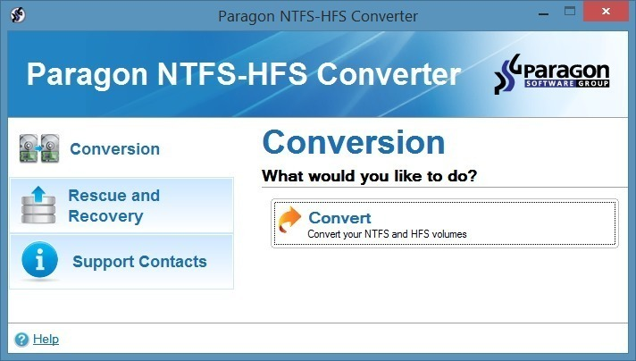 Screenshot 1 for NTFS-HFS Converter