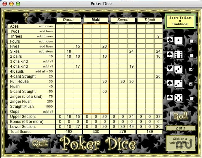 Screenshot 1 for Poker Dice