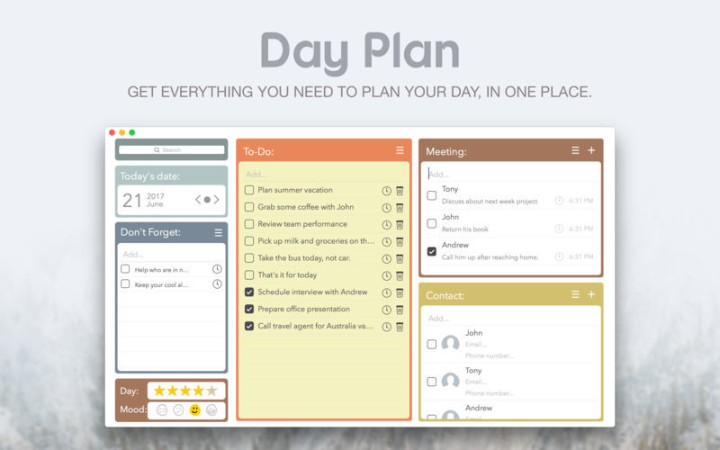 Screenshot 1 for Day Plan