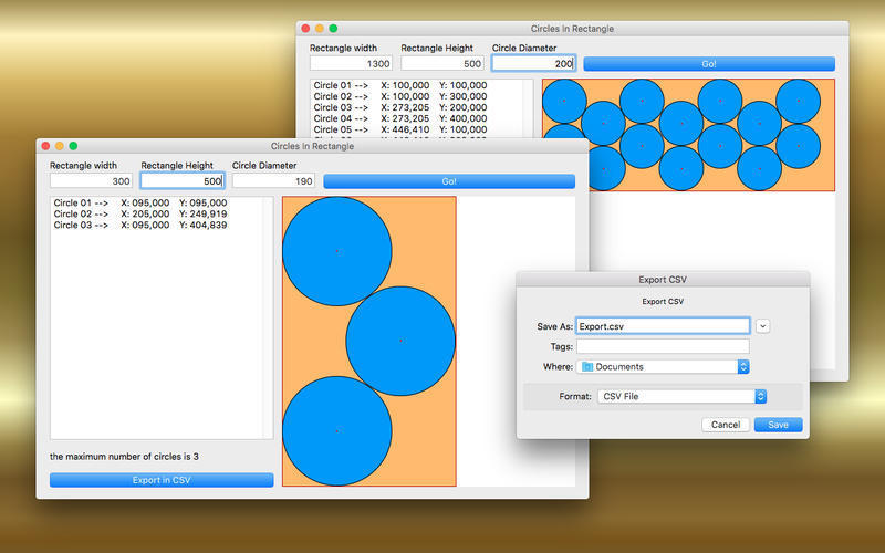Screenshot 2 for Circles in Rectangle