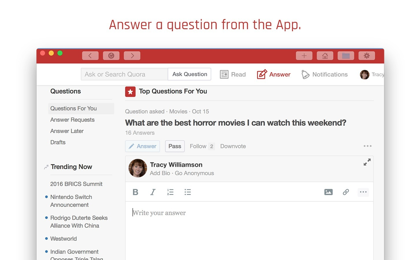 Screenshot 3 for DesktopReader for Quora