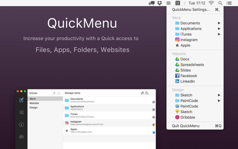 Screenshot 1 for QuickMenu