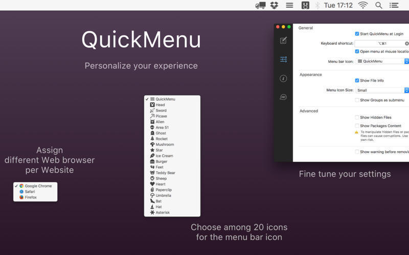 Screenshot 2 for QuickMenu