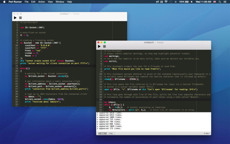 Screenshot 1 for Perl Runner