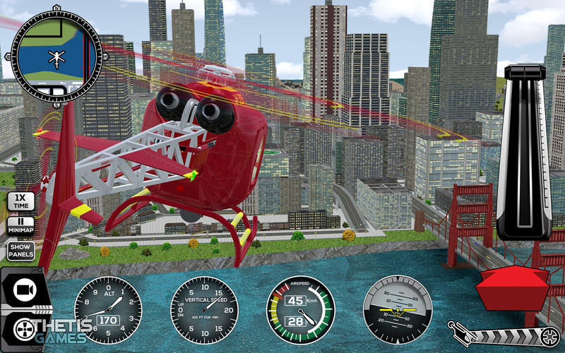 Screenshot 1 for Helicopter Simulator Premium