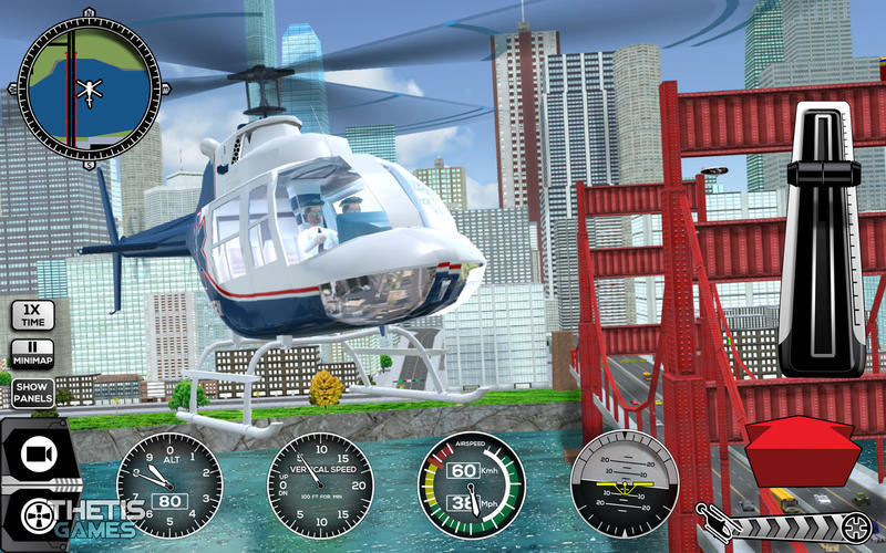 Screenshot 3 for Helicopter Simulator Premium
