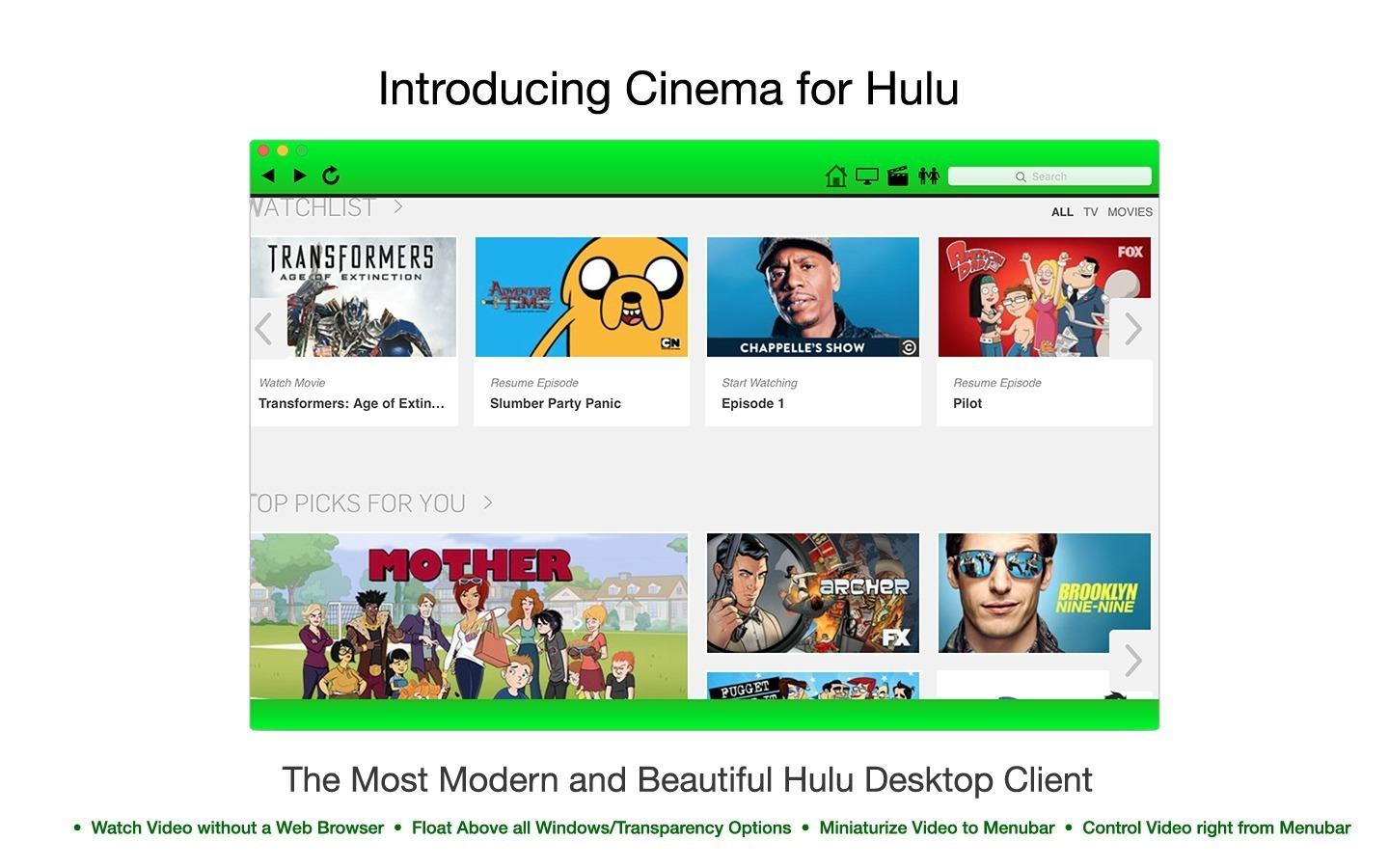 Screenshot 1 for Cinema for Hulu