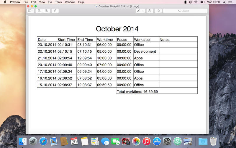Screenshot 5 for Timecard X