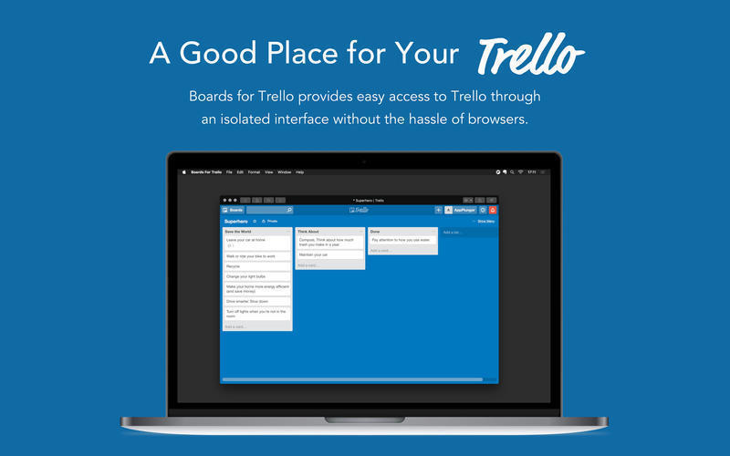 Screenshot 1 for Boards for Trello