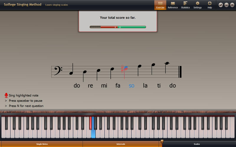 Screenshot 1 for Solfege Singing Trainer