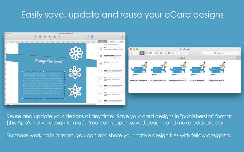 Screenshot 3 for Blue Penguin eCard Templates