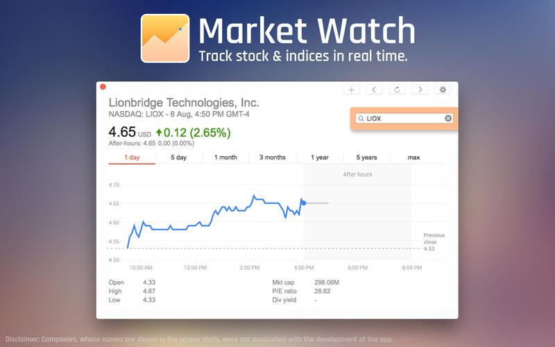 Screenshot 1 for Market Watch
