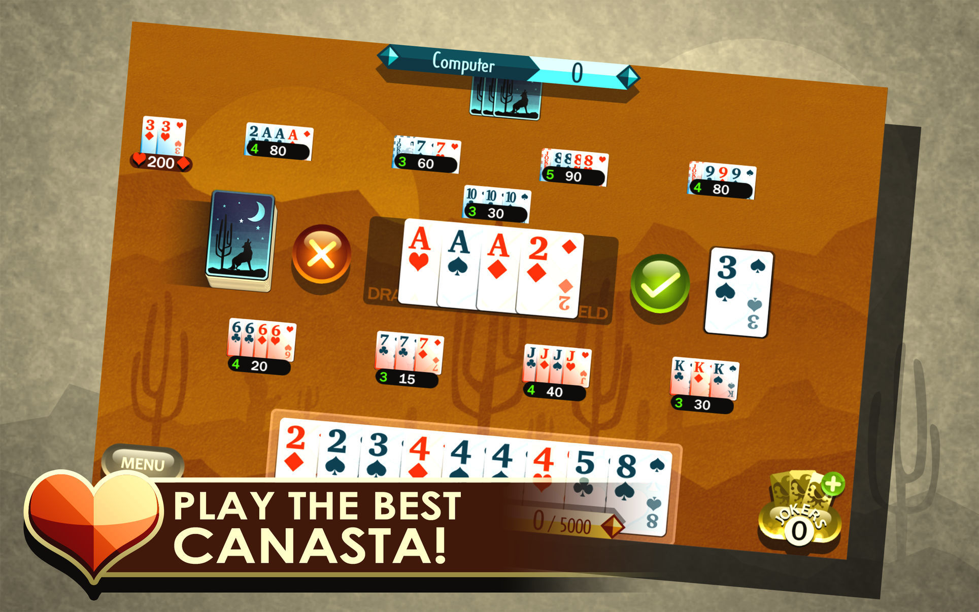 Screenshot 1 for Canasta Royale