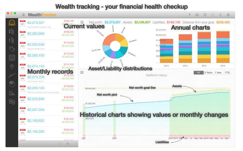 Screenshot 1 for Wealth Tracker