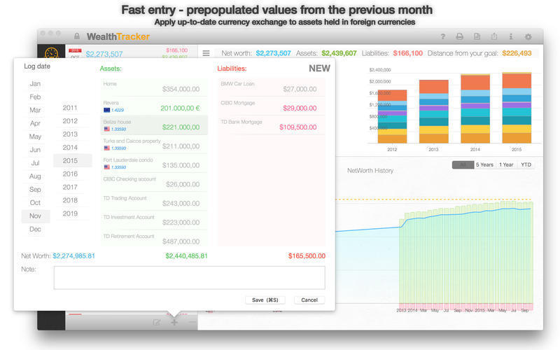 Screenshot 2 for Wealth Tracker