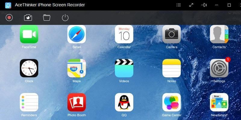 Screenshot 1 for AceThinker iPhone Screen Recorder