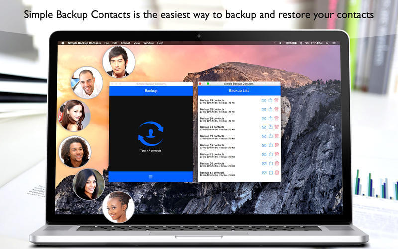 Screenshot 1 for Simple Backup Contacts