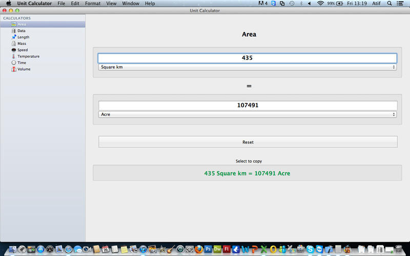 Screenshot 1 for Unit Calculator