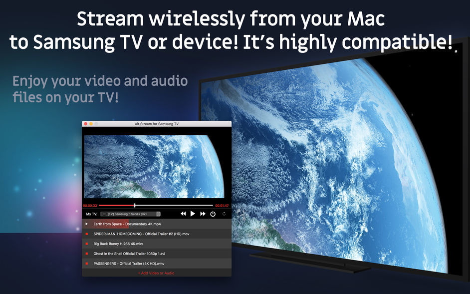 Screenshot 1 for TV Streamer for Samsung TV