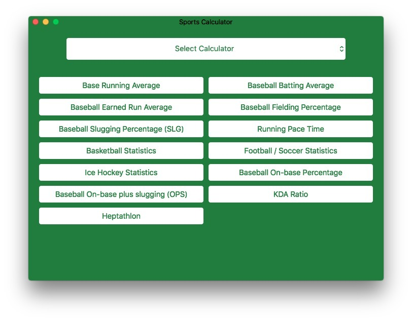 Screenshot 4 for Sports Calculator