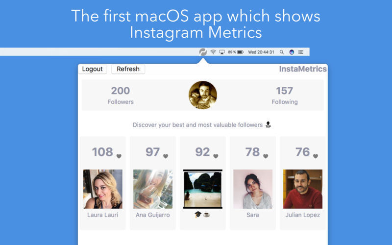 Screenshot 1 for Metrics for Instagram