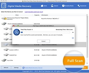 Screenshot 2 for MiniTool Mac Data Recovery