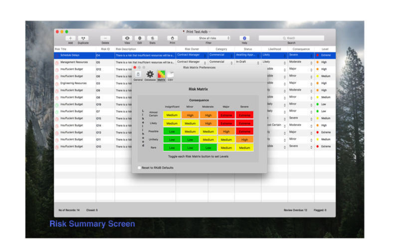 Screenshot 5 for Risk Manager