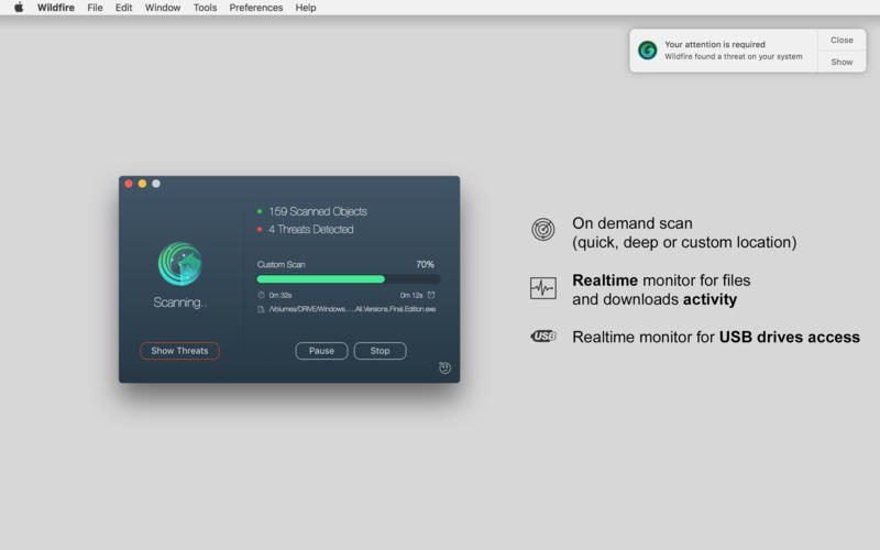 Screenshot 2 for Wildfire Antivirus