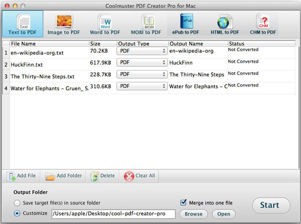 Screenshot 1 for Coolmuster PDF Creator Pro
