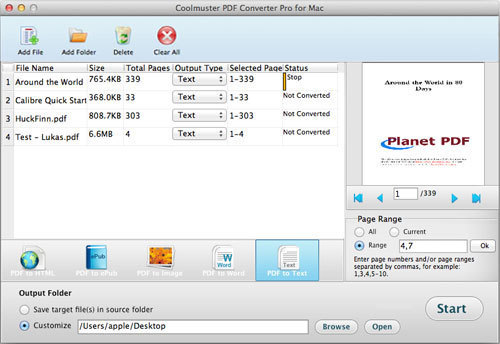 Screenshot 1 for Coolmuster PDF Converter Pro