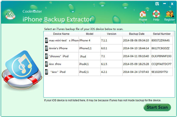 Screenshot 3 for Coolmuster iPhone Backup Extractor