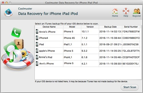 Screenshot 1 for Coolmsuter Data Recovery for iPhone iPad iPod