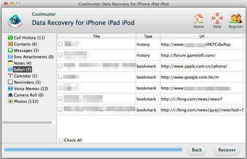 Coolmsuter Data Recovery for iPhone iPad iPod for Mac
