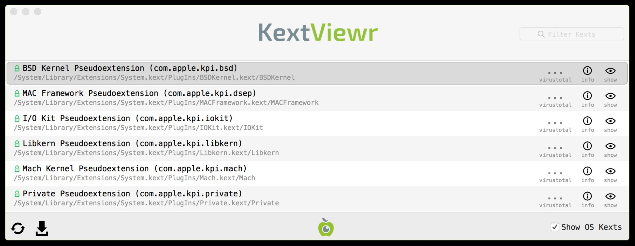 Screenshot 1 for KextViewr