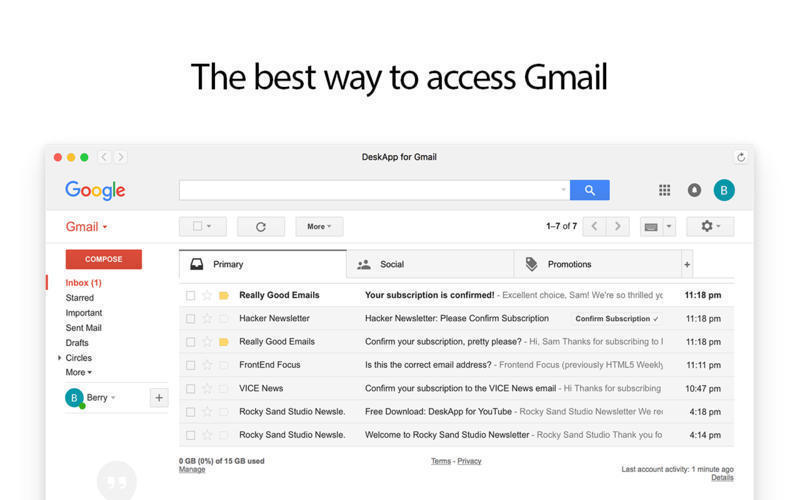 Screenshot 1 for Mail for Gmail